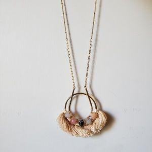 Anthropologie boho statement necklace